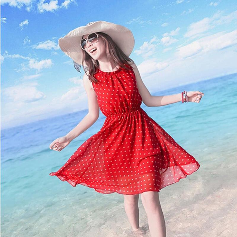夏装波西米亚海边度假沙滩裙