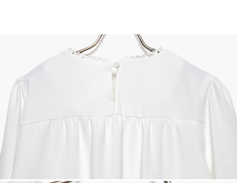 2015韩版新款木耳花边白衬衫