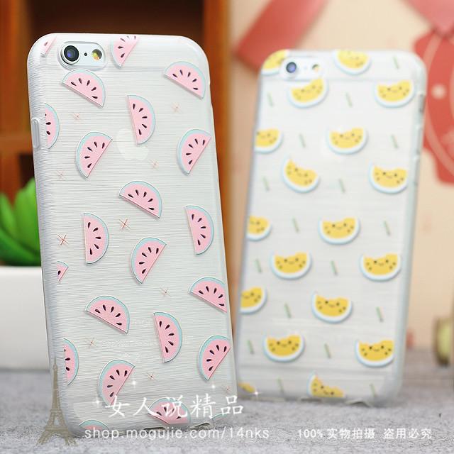 西瓜苹果iphone6plus情侣手机壳