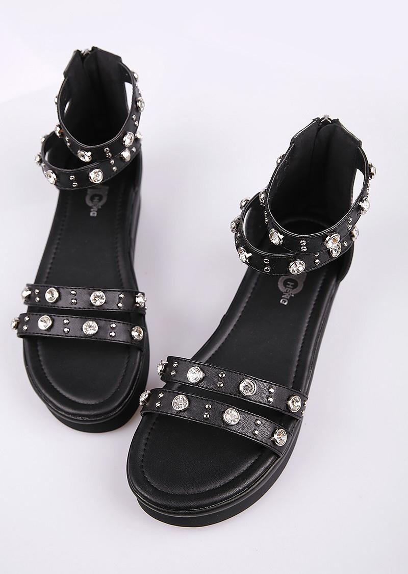 2015年新款韩版水钻凉鞋