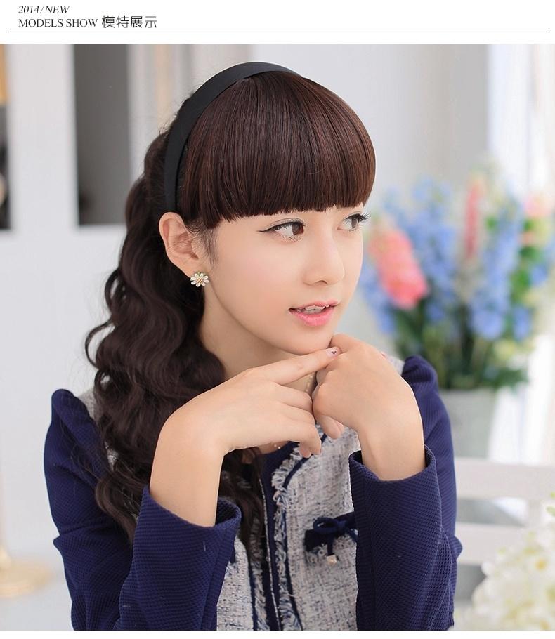 齐刘海带帽子的图片女生分享展示