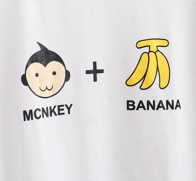 小猴子加香蕉简约短袖t恤