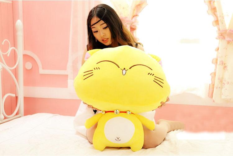 萌萌哒~可爱铃铛猫毛绒玩具