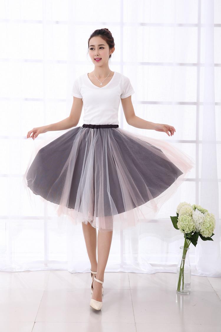 蓬蓬收腰半身纱裙