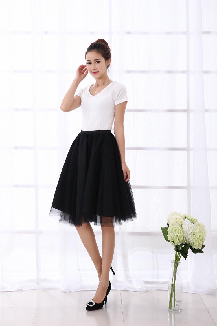 网纱蓬蓬半身裙