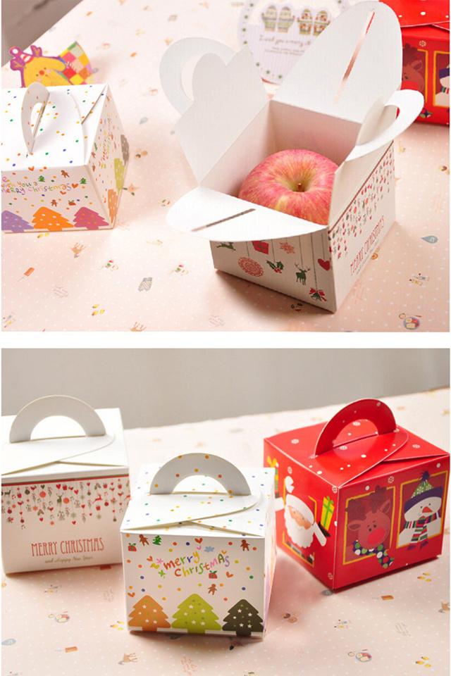 圣诞节平安果包装创意折叠纸盒