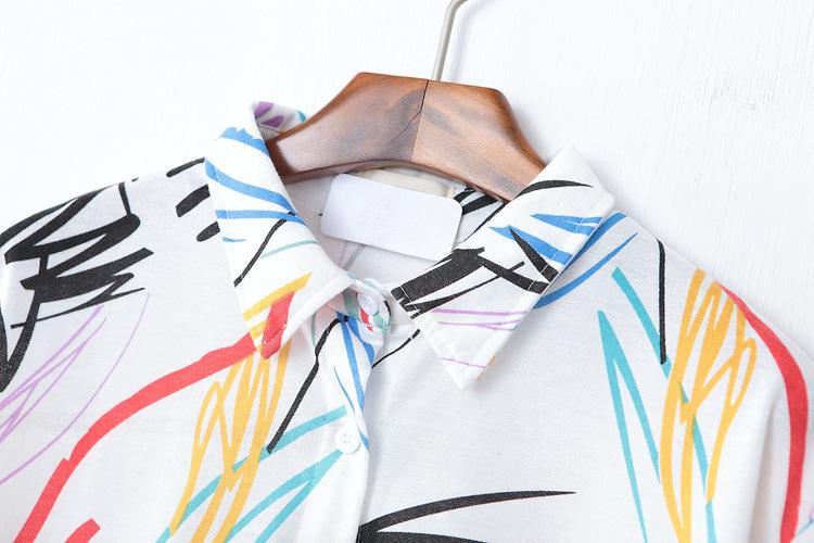 百褶裙 腰型:宽松腰 图案:印花,西瓜,菠萝,狗,线条 风格:日韩,小清新