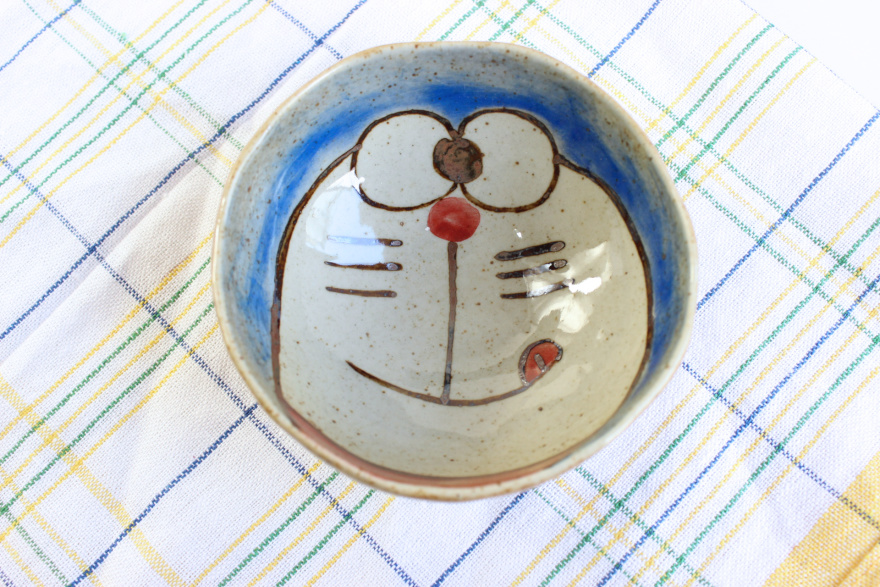 手绘叮当猫创意陶瓷碗