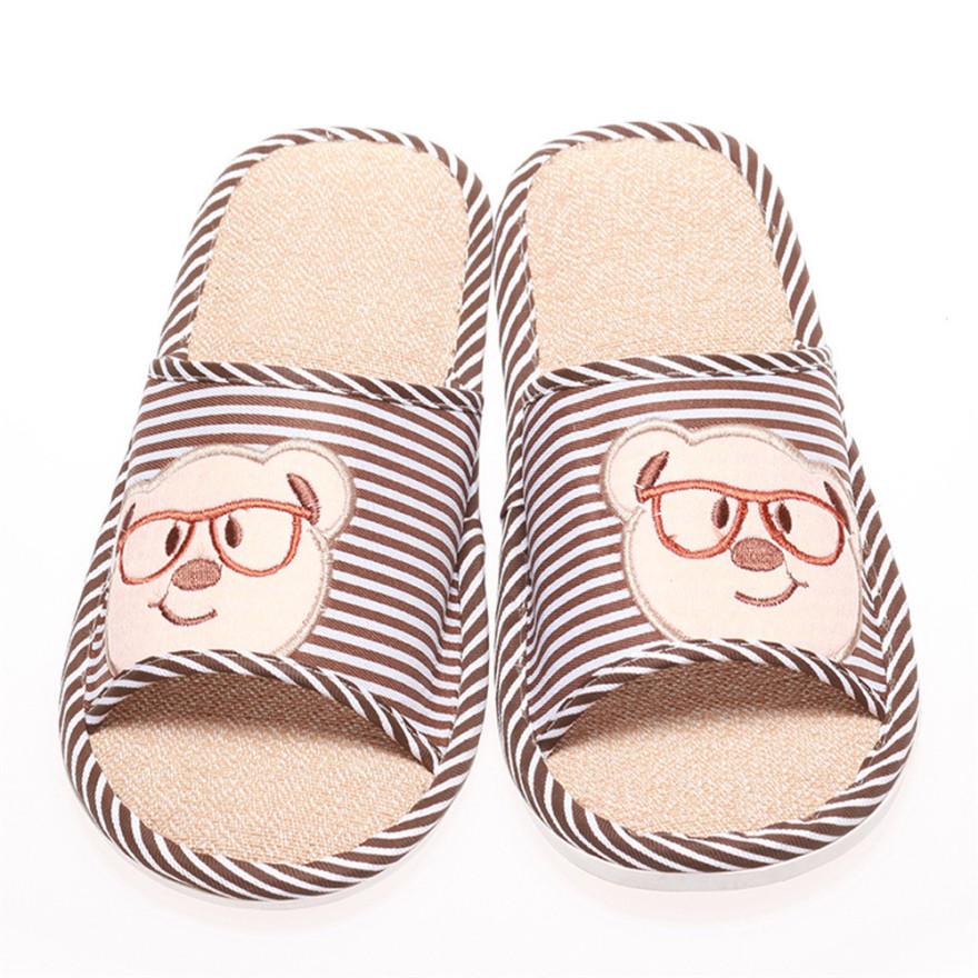 卡通可爱眼镜熊情侣拖鞋