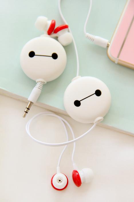我的大白耳机伸缩入耳式