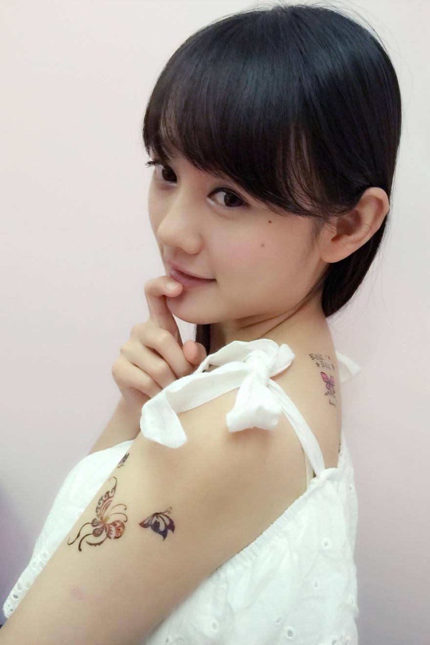 帅气萌萌可爱纹身贴六件套随机-来自蘑菇街优店