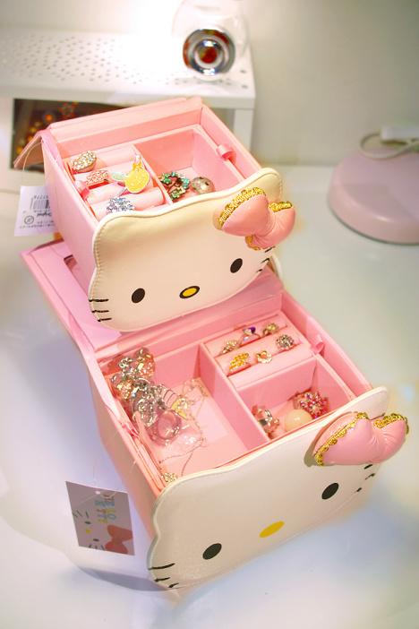 hellokitty,粉色,豹纹,可爱,公主,首饰盒