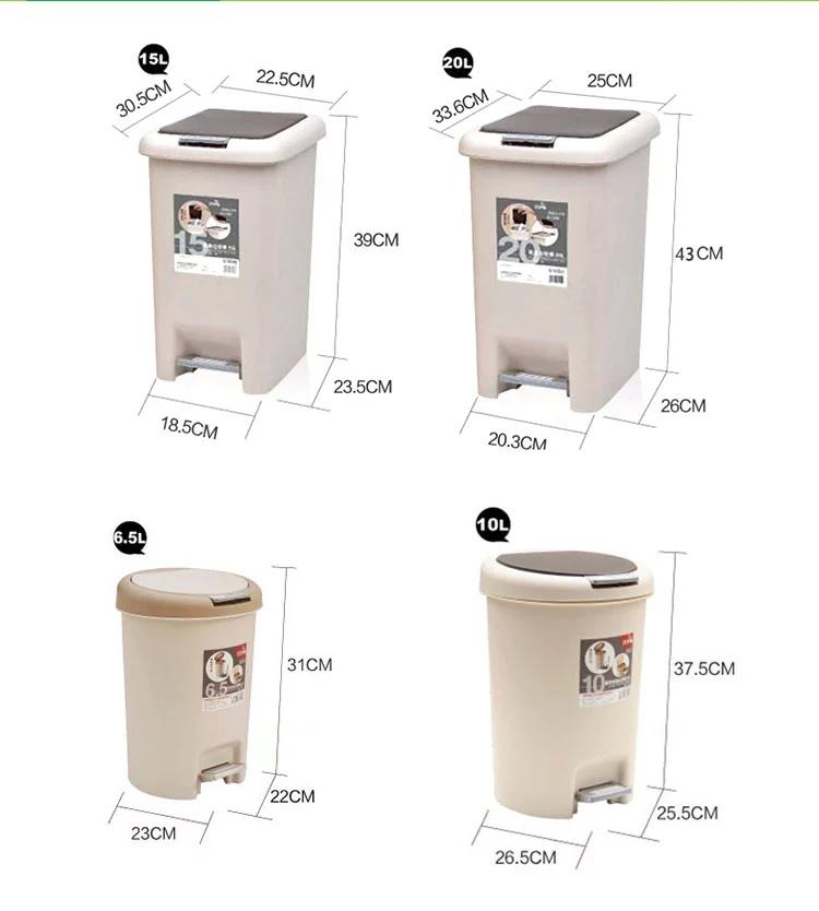 垃圾桶开盖形式:脚踏式