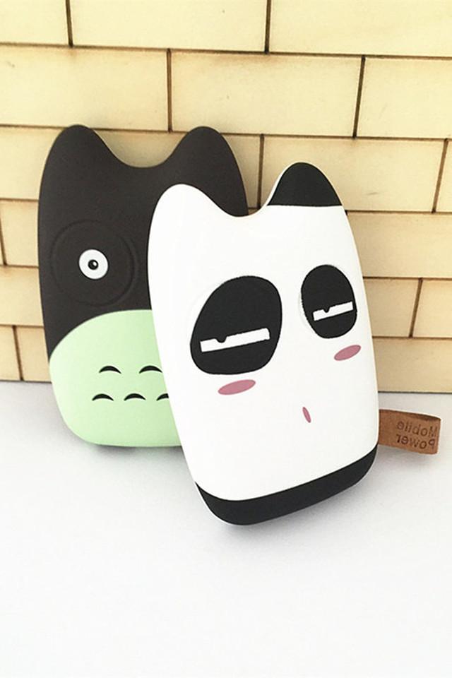 可爱卡通龙猫萌物系列充电宝,即是充电宝,也是萌物,超可爱的表情,么