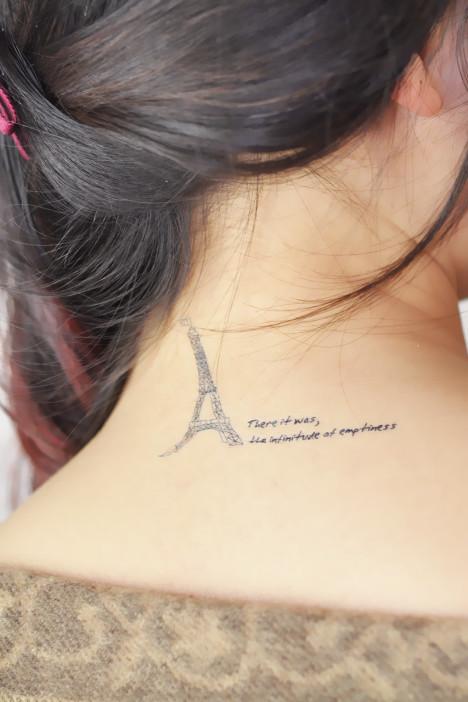 (2张装)埃菲尔铁塔纹身贴