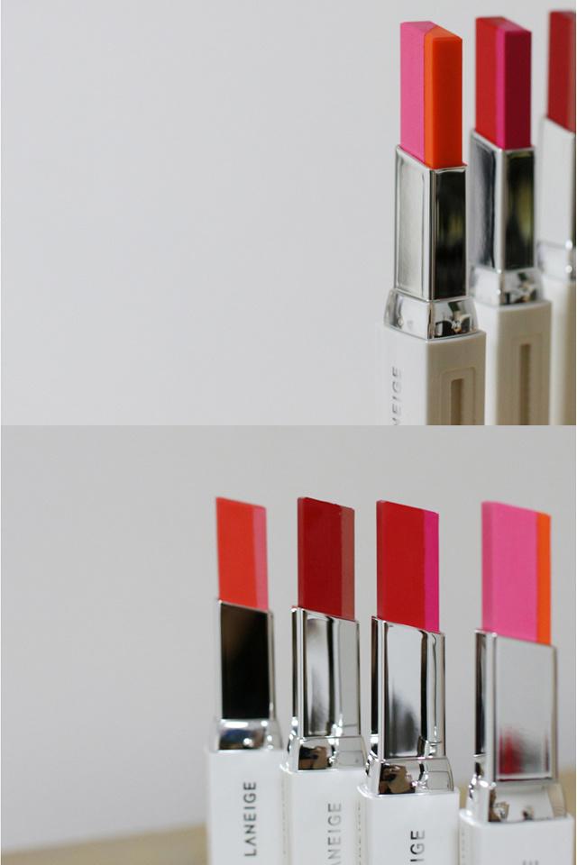 韩国兰芝丝绒双色口红咬唇妆唇膏