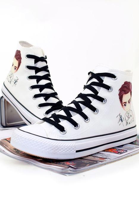 q版卡通鞋,手绘鞋