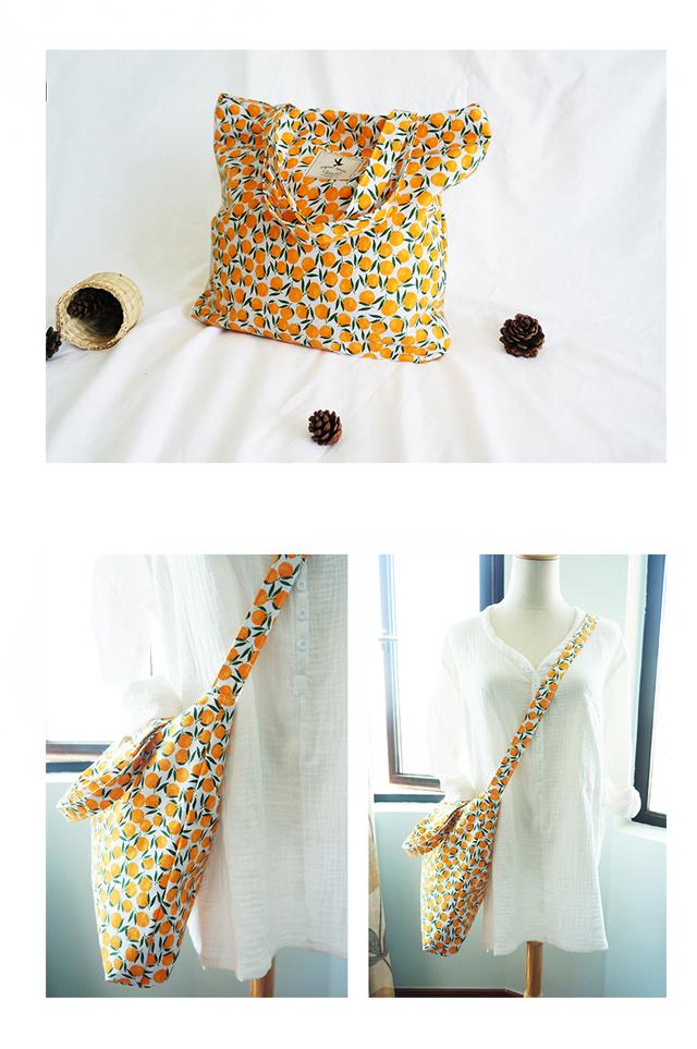 原创设计夏日清新水果文艺帆布包