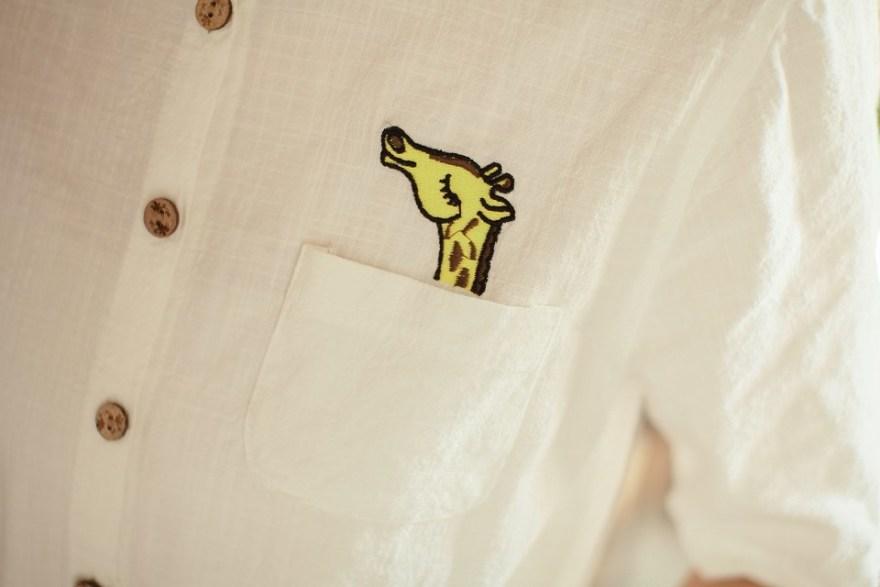 森系小鹿刺绣连衣裙