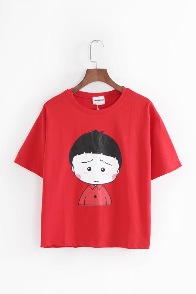 超可爱小丸子短款卡通t恤
