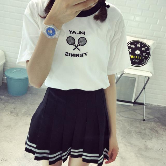韩国可爱美眉t恤-来自蘑菇街优店