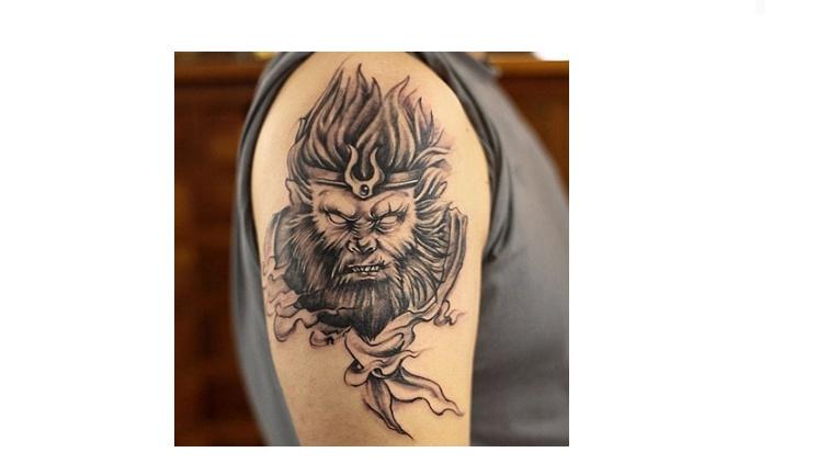 花臂纹身贴 猴子纹身贴 防水男齐天大圣孙悟空纹身刺青防水逼真图片