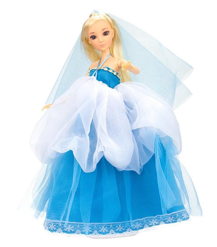 艾芘儿蓝色婚纱公主芭比娃娃 12关节全身活动 女孩玩具