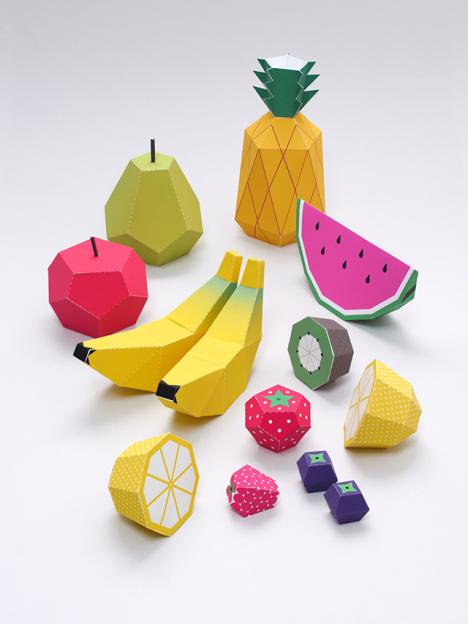 可定制立体水果折纸