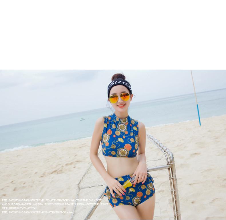 小可爱韩国分体泳衣女两件套