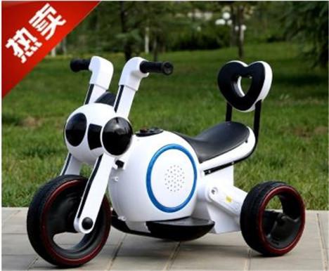 【太空狗儿童电动摩托车大号男女电瓶车充电玩具汽车