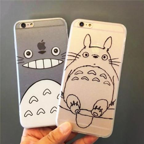 卡通龙猫iphone6s可爱硅胶套苹果6plus全包软壳