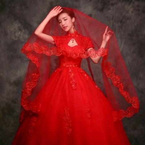 韩式蕾丝花边超长】-衣服-专柜婚纱