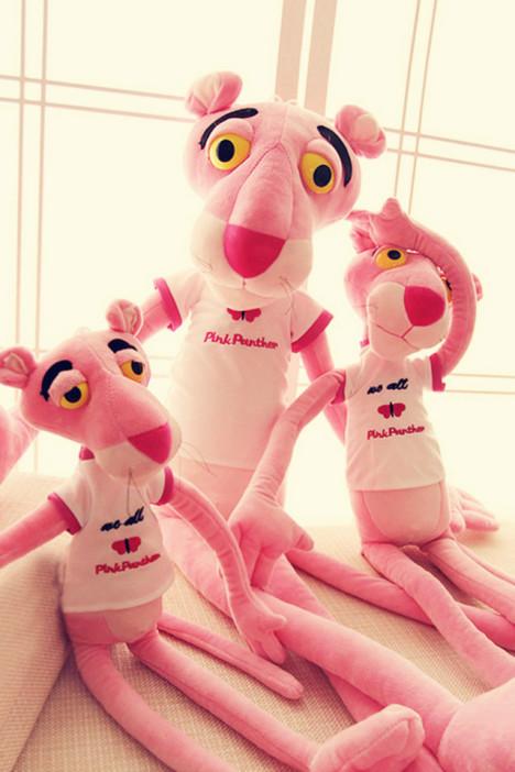 可爱达浪粉红豹公仔 卡通粉红顽皮豹布娃娃玩偶毛绒玩具生日礼物
