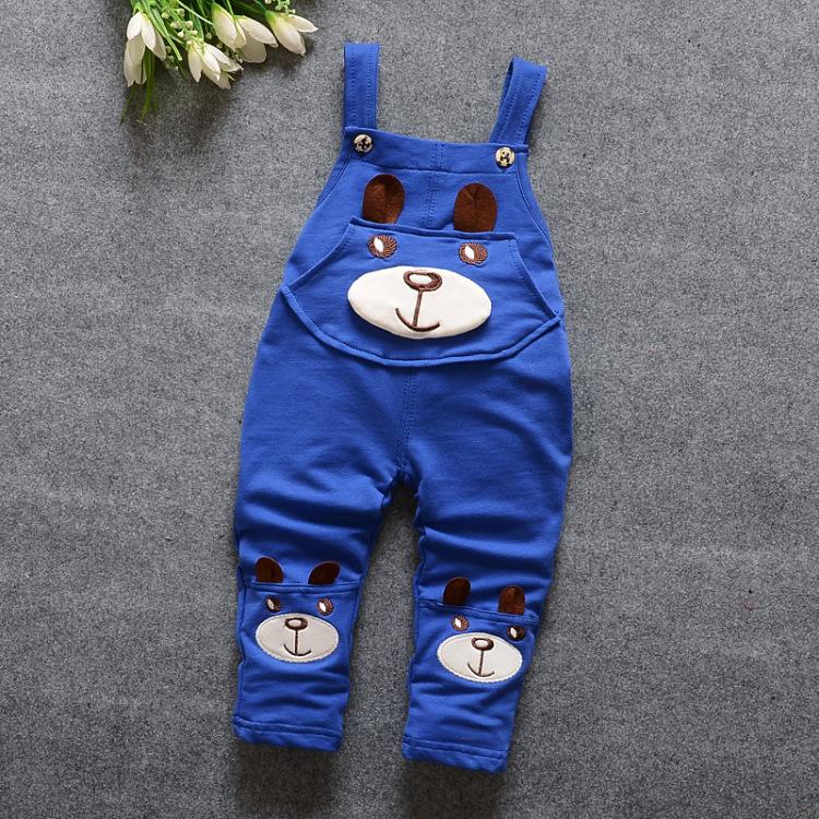 【默默童装】小童16款春秋装t恤背带裤可爱小熊款两件套
