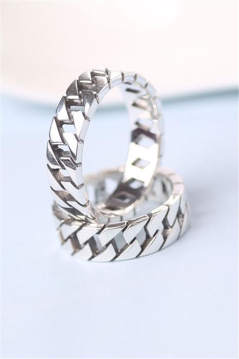泰银编制戒指,s925纯银,男士女士款,戒指,韩版,韩国,礼物