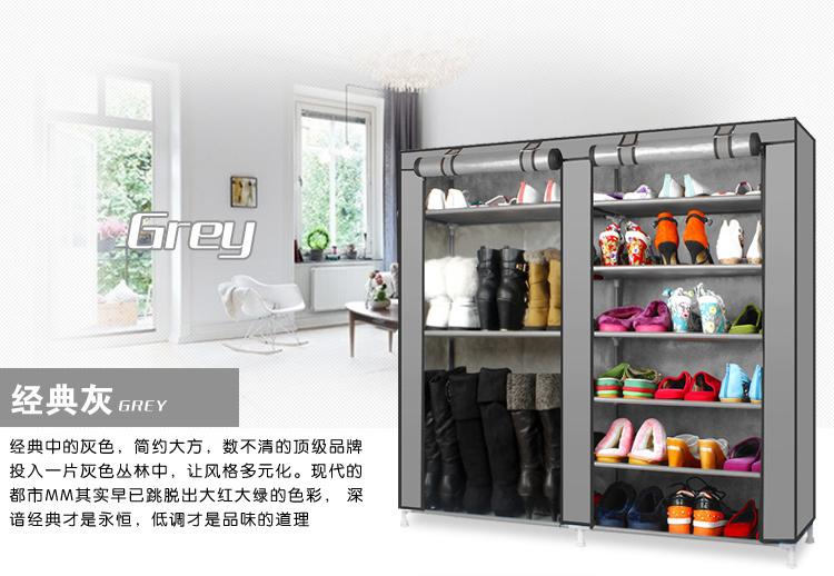 【鞋柜简易多层组装防尘折叠铁艺收纳创意特价包邮布