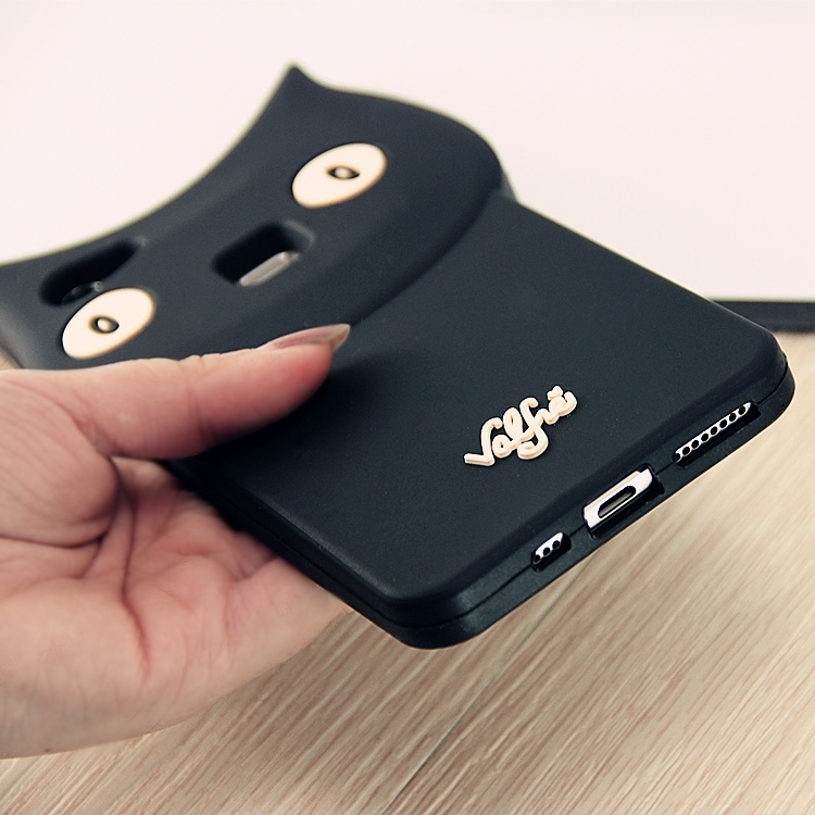 vivox6plus可爱黑猫硅胶手机壳