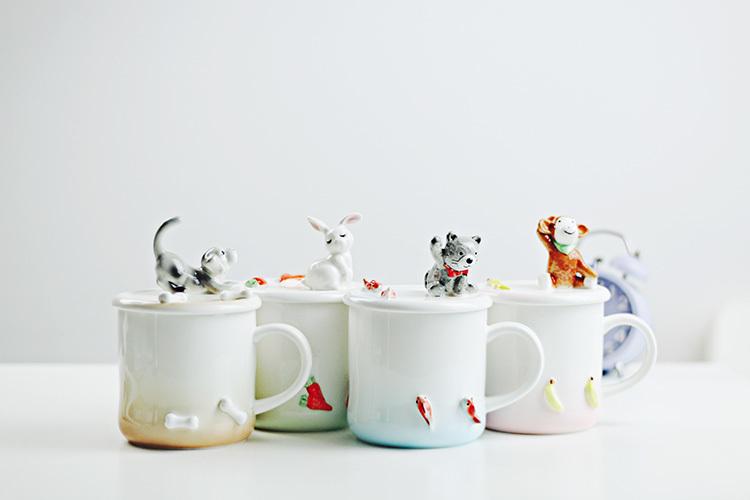 手绘陶瓷手机支架马克杯