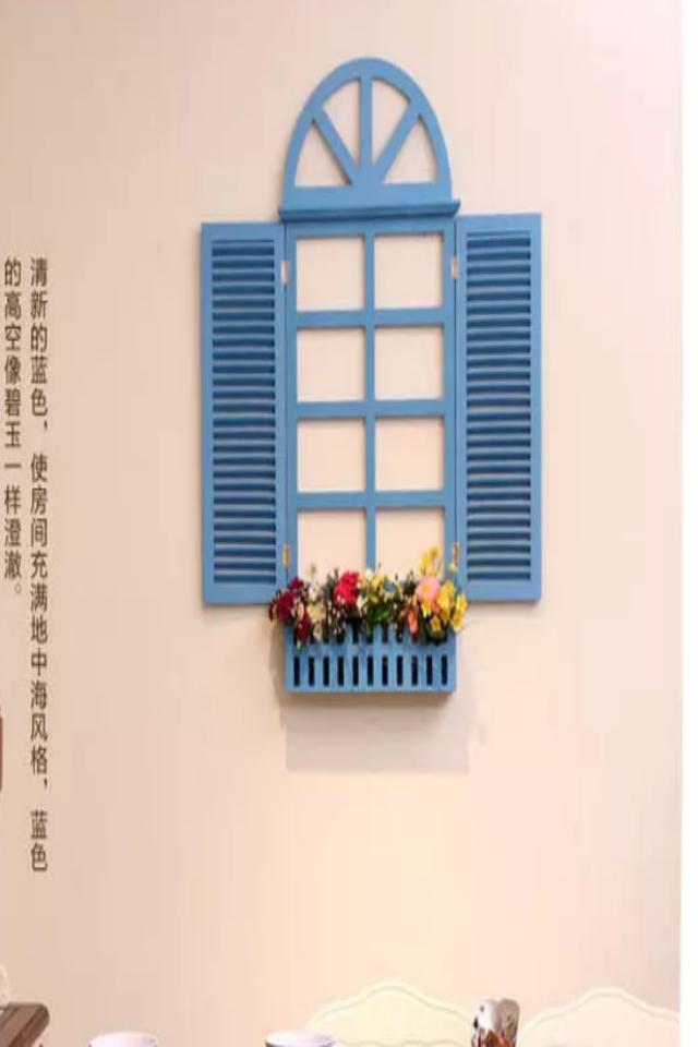 家居饰品地中海风格假窗欧式假窗户壁挂田园电表箱壁饰墙面装饰