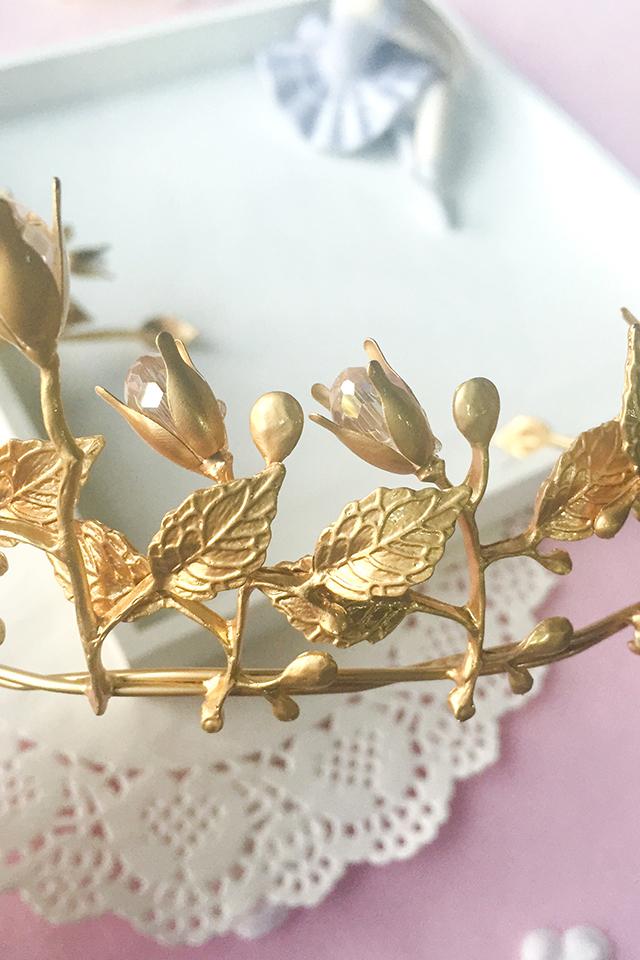 【欧式复古新娘饰品金色巴洛克皇冠头饰结婚礼发箍】