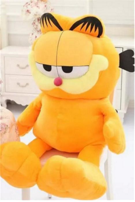 【可爱呆萌加菲猫毛绒玩具公仔抱枕布娃娃六一儿童节