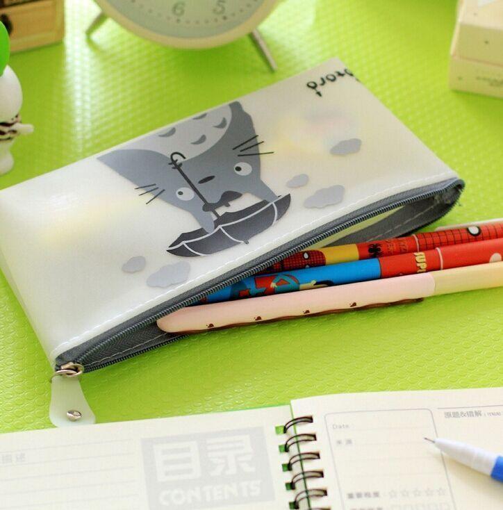 可爱龙猫果冻胶笔袋
