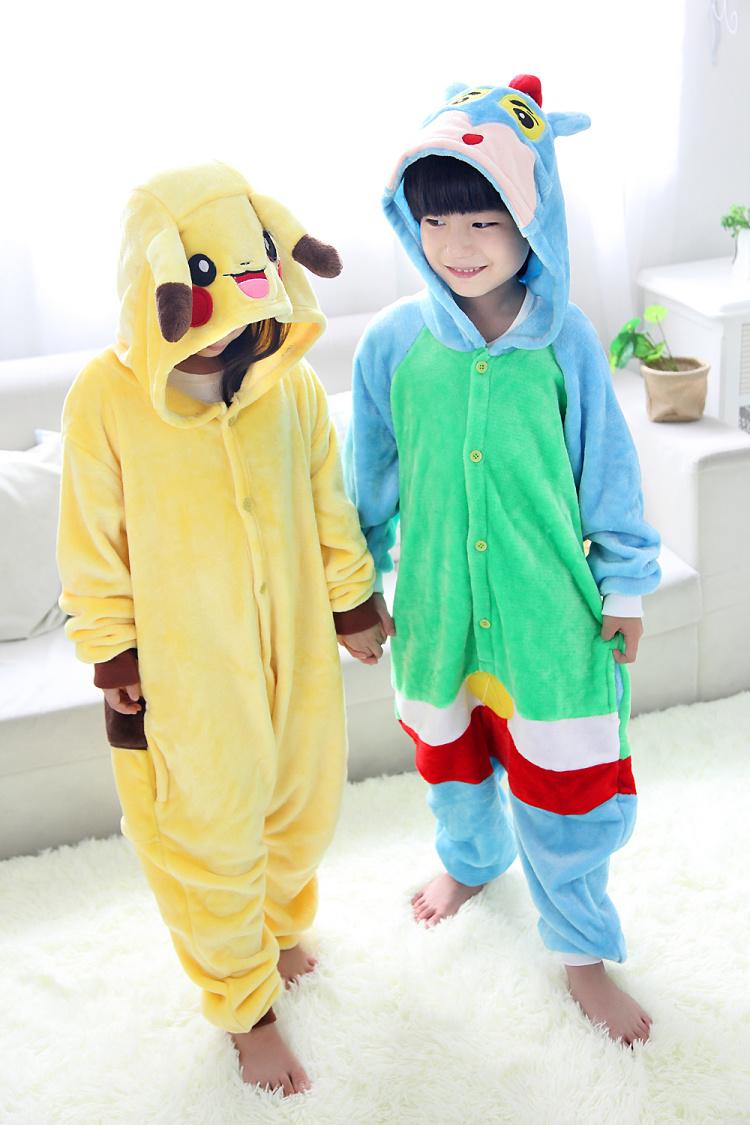 【冬季法兰绒儿童宝宝卡通连体睡衣爬行服装】-内衣
