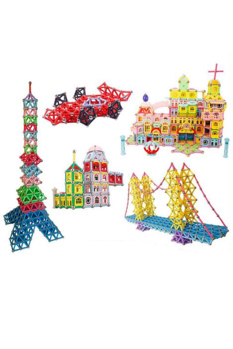 【磁力棒儿童益智玩具磁性3-5-7岁男孩女孩智力拼装