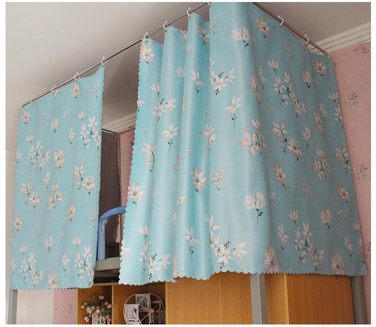 大学生宿舍床帘超强物理遮光布寝室上下铺布帘子遮光透气小清新图片