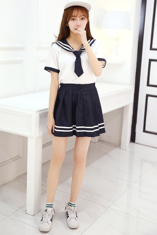 日韩校服套装领带可爱女学生服水手服时尚套装