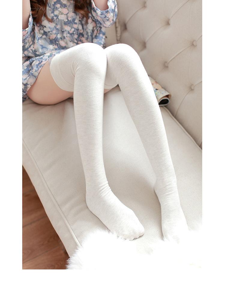 【卡通多色可爱过膝袜】-衣服-女士内衣/家居服