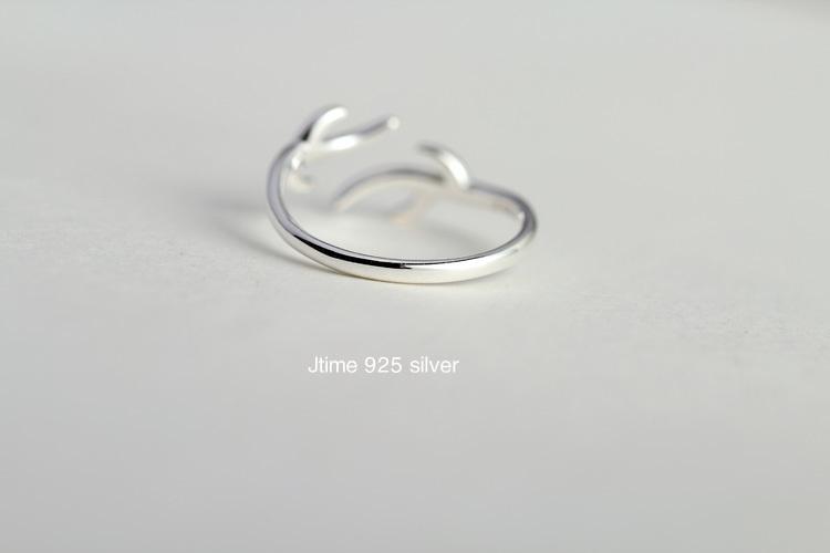 【s925纯银小动物麋鹿角戒指】-配饰-配饰