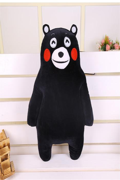 【可爱布娃娃熊本熊吉祥物公仔玩偶抱枕黑熊毛绒玩具