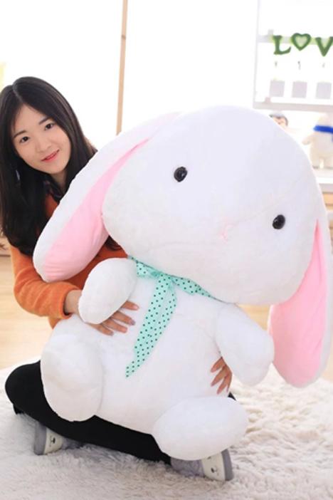 可爱~萌物大耳朵兔兔公仔